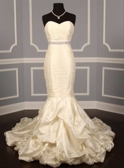 Your Dream Dress Exclusive Bridal White Crystal Beaded B530 Satin Sash