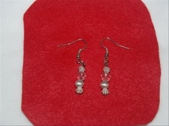 Silver Crystals And Beads Earrings Eas-19