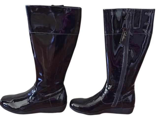 Item - Black - Rain Air Patent Leather Boots/Booties Size US 9 Narrow (Aa, N)