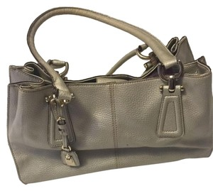 Liz Claiborne Silver Tote Functional Grey Shoulder Bag