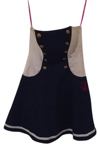 Betsey Johnson short dress Navy and white with gold buttons on Tradesy