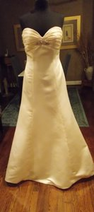 Champagne Satin Wedding Dress