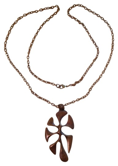 Noblegnome Antique brass leaf shaped pendant with chain