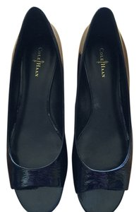 Cole Haan Black Patent Leather Wedges