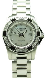 Longines New Longines HydroConquest Stainless Steel Diamond Mother of Pearl Dial Diamond Bezel Lady's Quartz Sport Watch L3.247.0.87.6 L32470876