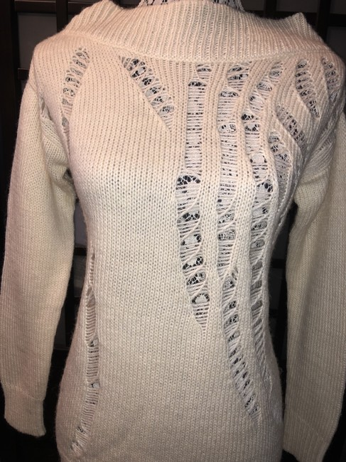 MICHAEL Michael Kors Winter Holiday Distressed Knit Chunky Sweater Image 1