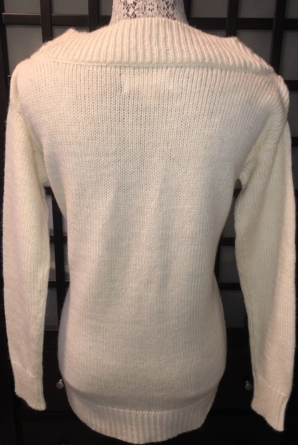 MICHAEL Michael Kors Winter Holiday Distressed Knit Chunky Sweater Image 5