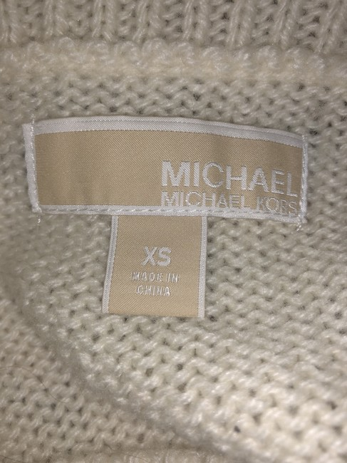 MICHAEL Michael Kors Winter Holiday Distressed Knit Chunky Sweater Image 6