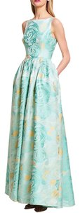 Adrianna Papell Floral Print Jacquard Ball Gown Dress