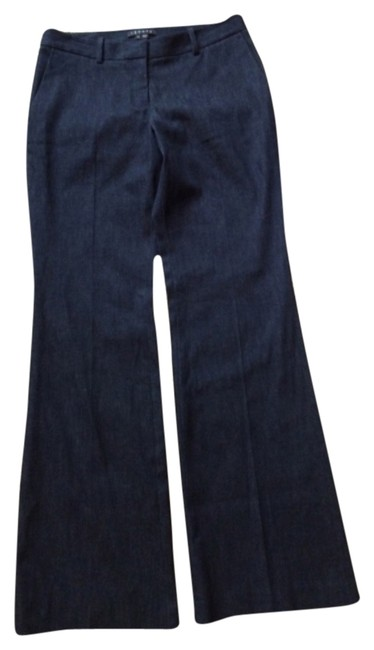 Preload https://item1.tradesy.com/images/theory-dark-flared-trouserwide-leg-jeans-size-28-4-s-4906975-0-0.jpg?width=400&height=650