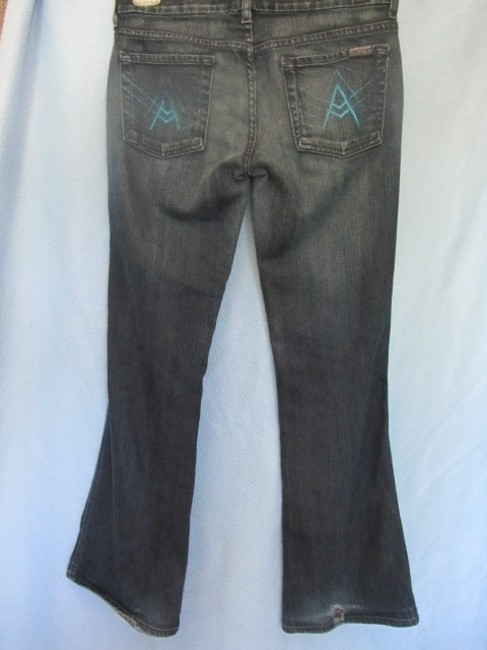 7 For All Mankind Flare Leg Jeans-Distressed Image 4