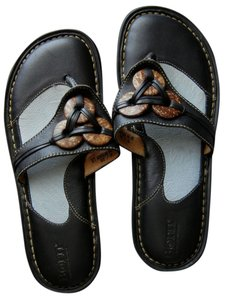 Brn Leather Comfort Black with accents Sandals