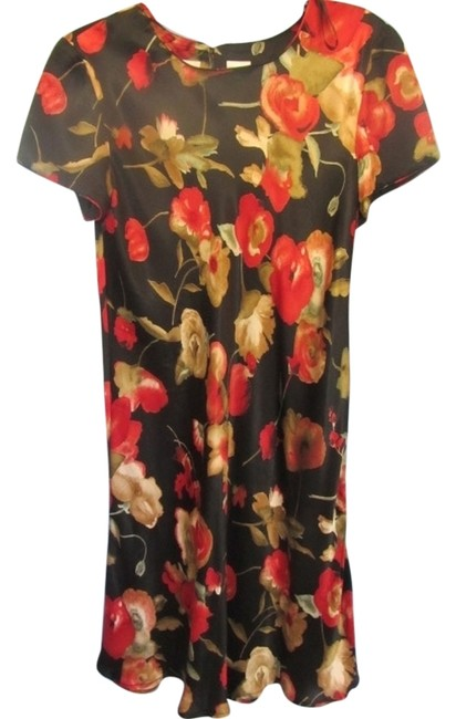 Preload https://item2.tradesy.com/images/liz-claiborne-black-w-floral-print-knee-length-short-casual-dress-size-10-m-4907221-0-0.jpg?width=400&height=650