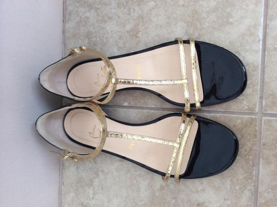 Christian Louboutin Black-gold Flats