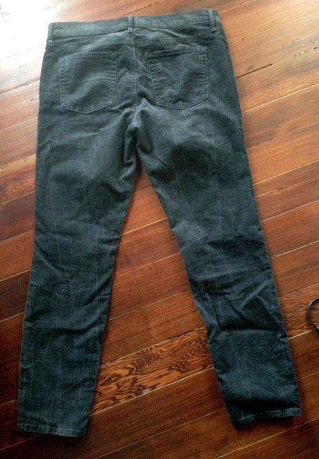 Gap Corduroy Distressed Stretchy Straight Pants Black