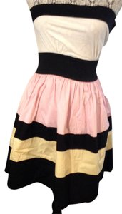Joyce Leslie short dress Multi Strapless A-line Striped on Tradesy