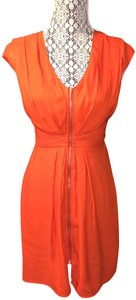H&M short dress Orange Sundress Zipper on Tradesy