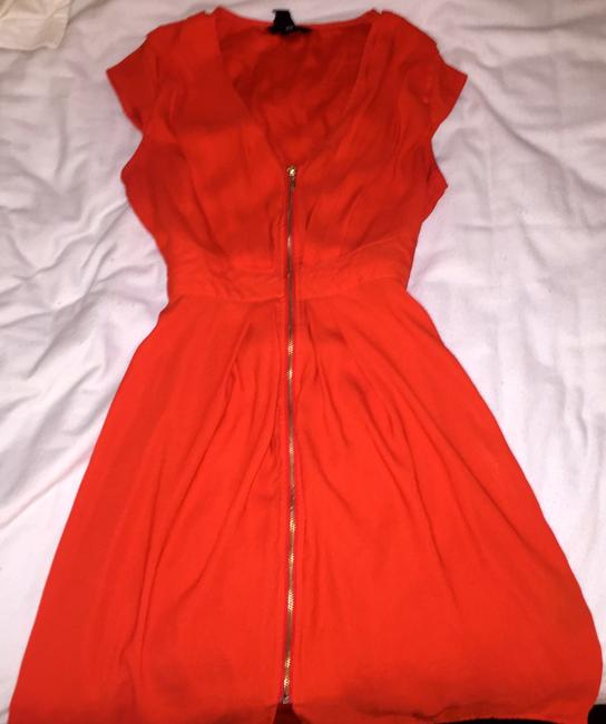 H&M short dress Orange Sundress Zipper on Tradesy Image 2