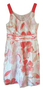 Ann Taylor LOFT short dress Pink Floral Floral Grosgrain Linen on Tradesy
