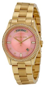Michael Kors Michael Kors pink Dial Gold Tone Ladies Designer Watch