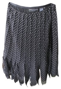 Dana Buchman Polka Dot Skirt Black, White