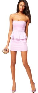 Oh My Love Purple Peplum Sweetheart Dress