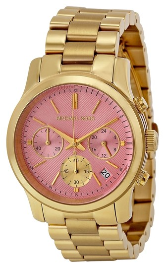 Preload https://item2.tradesy.com/images/michael-kors-michael-kors-pink-dial-gold-stainless-steel-luxury-ladies-watch-4908151-0-0.jpg?width=440&height=440