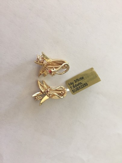 Other Steal - 14k Gold With 3/5 Carat Tw Oval Diamond Earrings W Appraisal