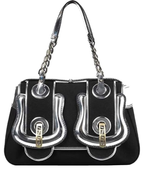Fendi Satchel in Black And silver