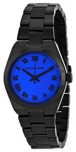 Michael Kors Michael Kors Black Stainless Steel Ladies Watch with Blue Dial