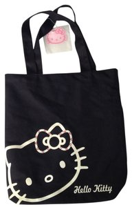 Hello Kitty Cute Rhinestones Laptop Tote in black