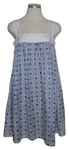 Laundry by Shelli Segal short dress Blue Silk Beaded Tank on Tradesy