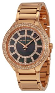 Michael Kors Michael Kors Black Mother of Pearl with Crystals Dial Rose Gold ladies Luxury Watch
