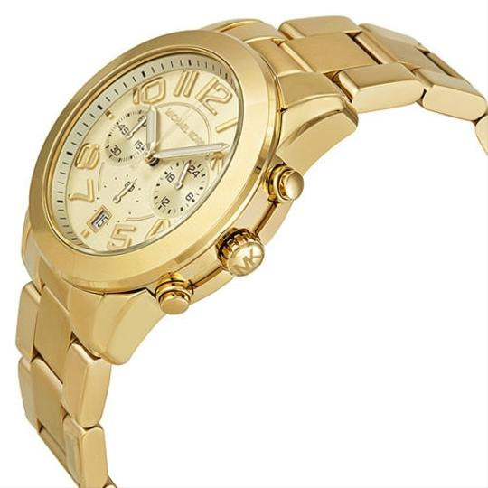 Michael Kors Michael Kors Gold Tone Champagne Dial Stainless Steel Ladies Designer Watch