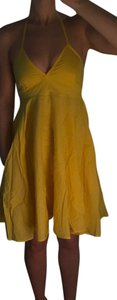 Divided by H&M short dress Yellow Halter A-line Pockets on Tradesy