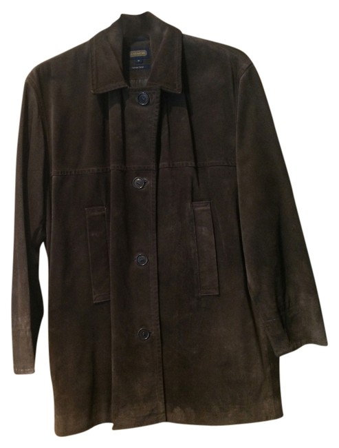 Coach Brown Suede Leather Jacket