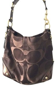 Coach Tote Brass Patent Hobo Bag