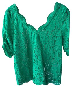 Joie Lace Emerald Top Green