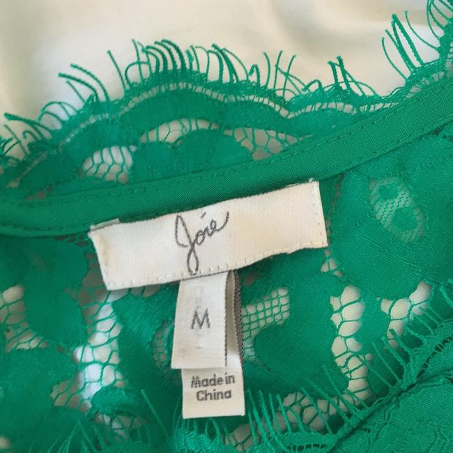 Joie Lace Emerald Lace Shirt Top Green