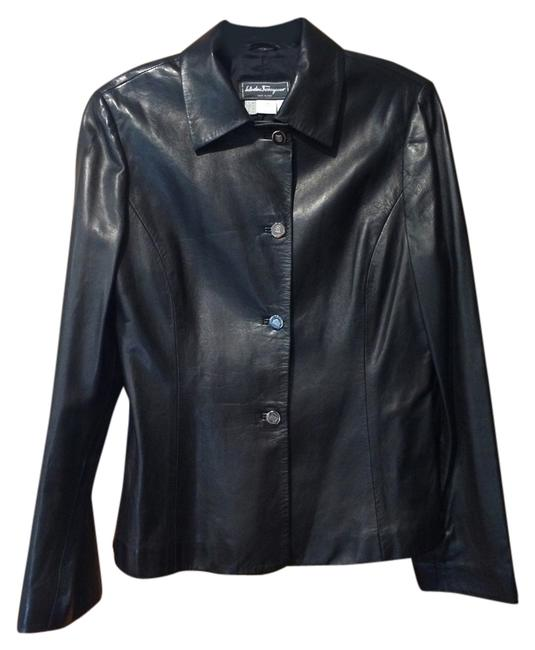 Preload https://item4.tradesy.com/images/salvatore-ferragamo-black-leather-jacket-size-12-l-4908823-0-1.jpg?width=400&height=650