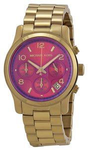 Michael Kors Michael Kors Gold Tone with Pink Dial Casual Ladies Designer Watch