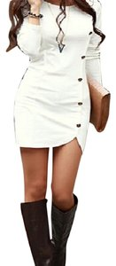 Hiyadelal Cocktail Mini Classy Military Buttons Mod Classic Trendy Style Fashion Dress