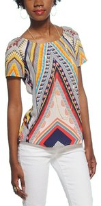 Cooper & Ella Tribal Short Sleeves Top Graphic Print