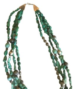 Silver and turquoise multi-strand necklace