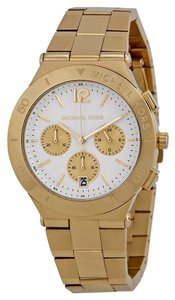 Michael Kors Michael Kors White Dila Gold Tone Ladies Designer Watch