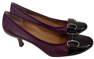 Tahari Purple/Black Pumps