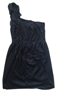 MM Couture Layered Ruffle One Shoulder Dress