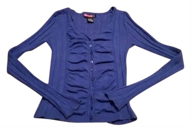 Preload https://item1.tradesy.com/images/say-what-blue-long-sleeve-v-neck-blouse-size-2-xs-4909810-0-0.jpg?width=400&height=650