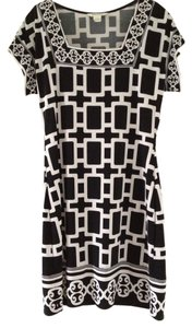 White House | Black Market Office Geometric Tunic Knee Length Dress