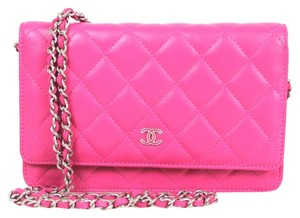 Chanel Chanel Pink Quilted Leather Silver HDW Wallet On Chain WOC Wallet mrc1660010416